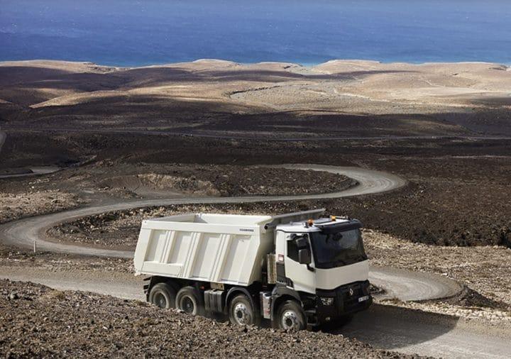 Le camion benne Renault Kerax